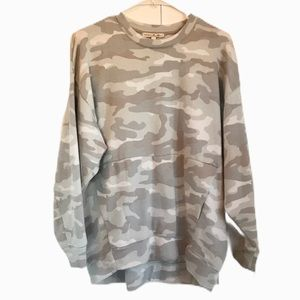 Express Oversized Camo Sweatshirt